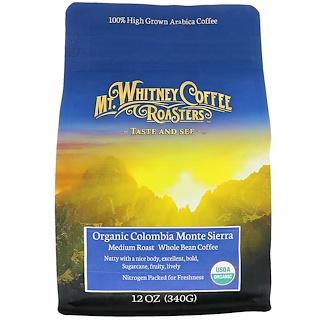 Mt. Whitney Coffee Roasters, Organic Colombia Monte Sierra, Medium Roast Whole Bean Coffee, 12 oz (34 g)