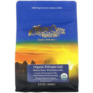 Мт Уитни Коффее Роастерс, Organic Ethiopia Guji, Medium Roast, Whole Bean Coffee, 12 oz (340 g) отзывы покупателей