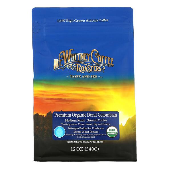 Premium Organic Decaf  Colombian, Medium Roast Ground Coffee, 12 oz (340 g)