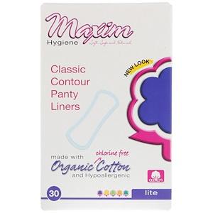 Максим Хайджин Продактс, Organic Classic Contour Panty Liners, Lite, 30 Panty Liners отзывы покупателей