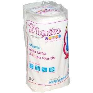 Максим Хайджин Продактс, Organic Extra Large Lint-Free Rounds, 50 Count отзывы