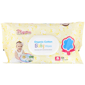 Maxim Hygiene Products, Organic Cotton Baby Wipes, 64 Wet Wipes'