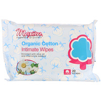 Maxim Hygiene Products, Organic Cotton Intimate Wipes, 20 Wet Wipes