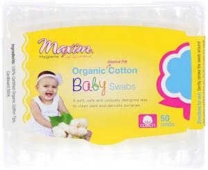 Максим Хайджин Продактс, Organic Cotton Baby Swabs, 50 Swabs отзывы