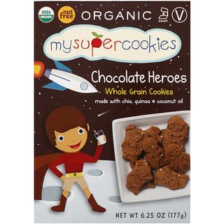 MySuperCookies, Whole Grain Cookies, Chocolate Heroes, 6.25 oz (177 g)