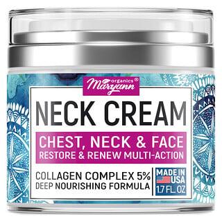 Maryann Organics, Neck Cream, Chest, Neck & Face, Restore & Renew Multi-Action, 1.7 fl oz