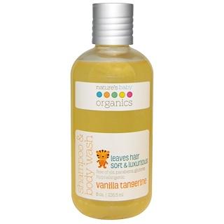 Nature's Baby Organics, Shampoo & Body Wash, Vanilla Tangerine, 8 oz (236.5 ml)