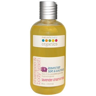 Nature's Baby Organics, Shampoo & Body Wash, Lavender Chamomile, 8 oz (236.5 ml)