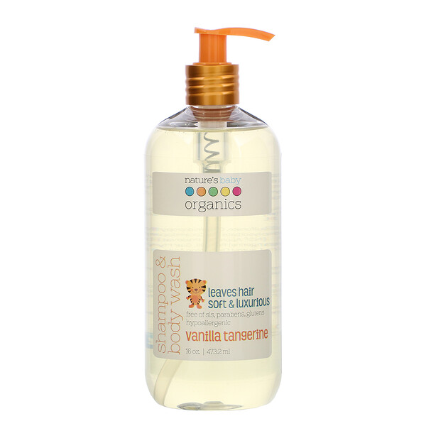 Nature's Baby Organics, Shampoo & Body Wash, Vanilla Tangerine, 16 oz (473.2 ml)