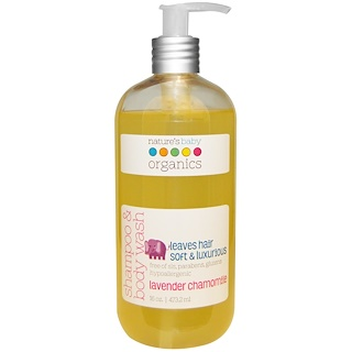 Nature's Baby Organics, Shampoo & Body Wash, Lavender Chamomile, 16 oz (473.2 ml)