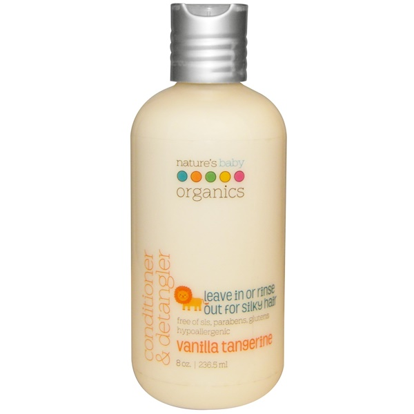 Nature's Baby Organics, Conditioner & Detangler, Vanilla Tangerine, 8 fl oz (236.5 ml) (Discontinued Item)