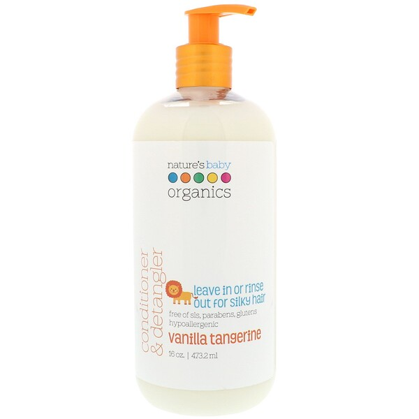 Conditioner & Detangler, Vanilla Tangerine, 16 fl oz (473.2 ml)