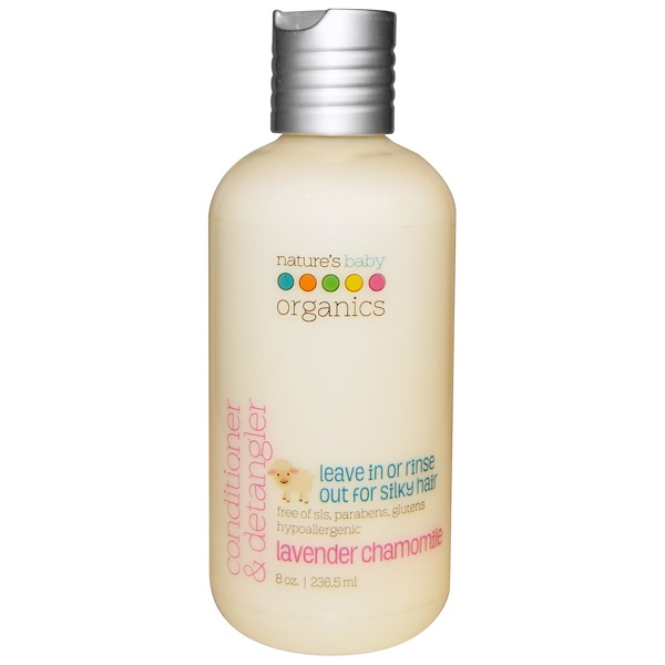 Nature's Baby Organics, Conditioner & Detangler, Lavender Chamomile, 8 oz (236.5 ml)