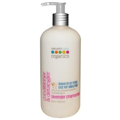 Купить Nature's Baby Organics Кондиционер и средство для распутывания волос, лаванда и ромашка, 473, 2 мл (16 унций)