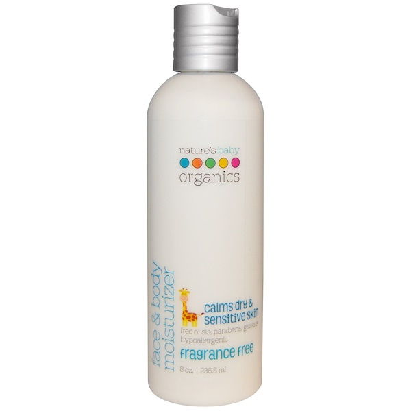 Face & Body Moisturizer, Fragrance Free, 8 oz (236.5 ml)