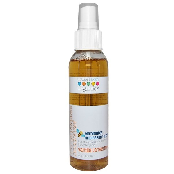 Nature's Baby Organics, PU All Purpose Deodorizer, Vanilla Tangerine, 4 oz (118.3 ml) (Discontinued Item)