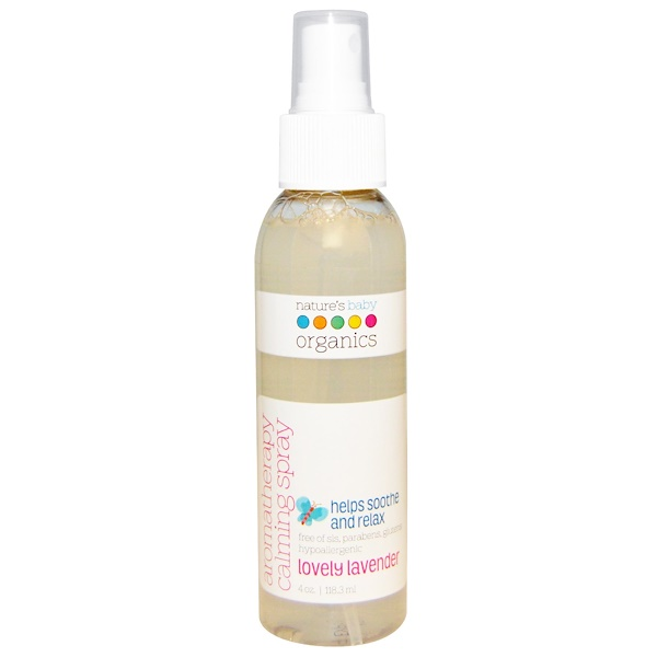Nature's Baby Organics, Aromatherapy Calming Spray, Lovely Lavender, 4 oz (118.3 ml)