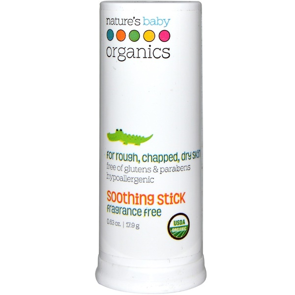 Nature's Baby Organics, Soothing Stick, Fragrance Free, 0.63 oz (17.9 g) (Discontinued Item)