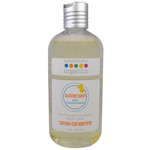 Nature's Baby Organics, バブルバス, ジェントルモイスチャライジングバブル, タンジータンジェリン, 12オンス (354.9 ml) (Discontinued Item)