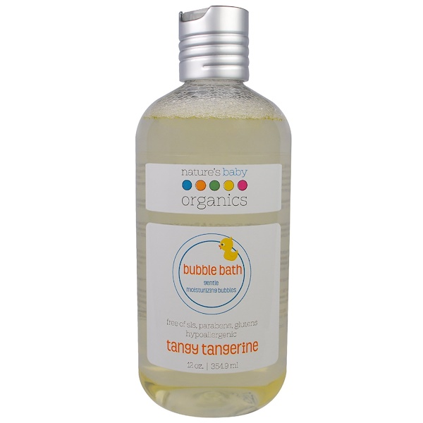 Nature's Baby Organics, Пена для ванной, мягкая увлажняющая пенка, резкий мандарин, 12 унций (354,9 мл)