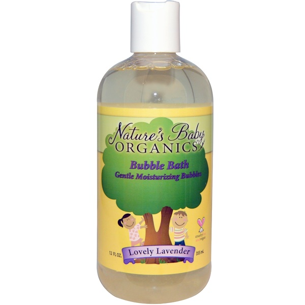 Nature's Baby Organics, Bubble Bath, Gentle Moisturizing Bubbles, Lovely Lavender, 12 fl oz (355 ml)
