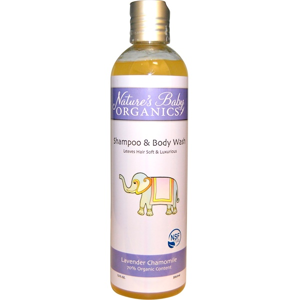 Nature's Baby Organics, Shampoo & Body Wash, Lavender Chamomile, 12 fl oz (354.9 ml) (Discontinued Item)