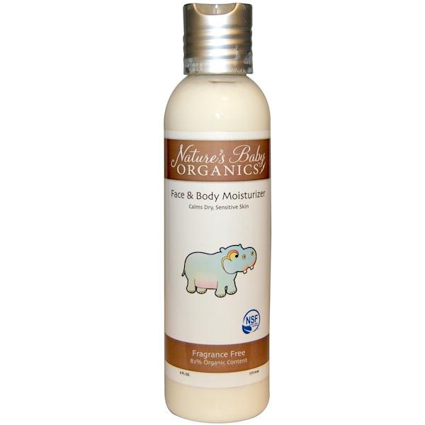 Nature's Baby Organics, Face & Body Moisturizer, Fragrance Free, 6 fl oz (177.4 ml) (Discontinued Item)