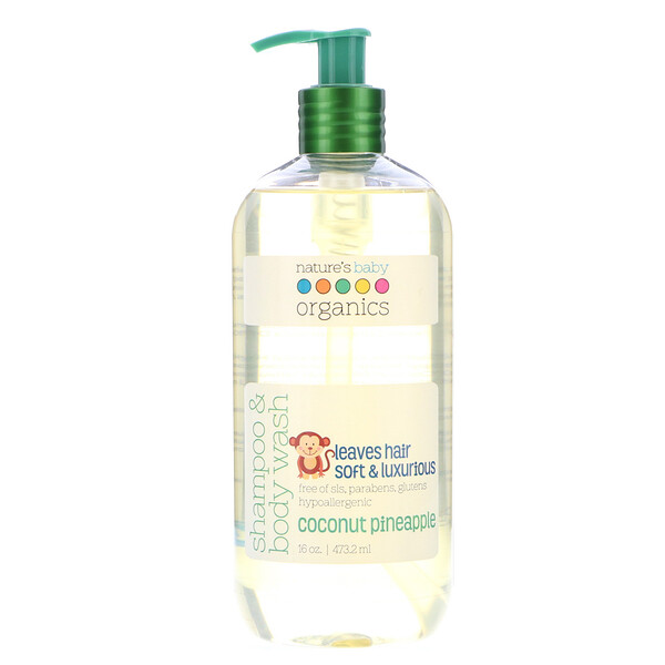 Shampoo & Body Wash, Coconut Pineapple, 16 oz (473.2 ml)