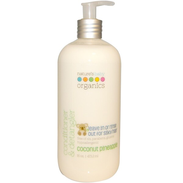 Nature's Baby Organics, Conditioner & Detangler, Coconut Pineapple, 16 oz (473.2 ml)