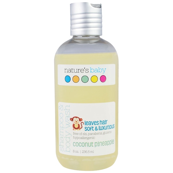 Nature's Baby Organics, Gel douche - shampooing, Ananas coco, 236,5 ml (Discontinued Item)