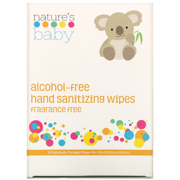 Hand Sanitizing Wipes, Alcohol Free, Fragrance Free , 60 Individually Packaged Wipes