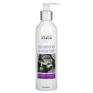Nature's Baby Organics, Conditioner & Detangler, Lavender Chamomile, 8 oz (236.5 ml)