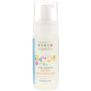 Nature's Baby Organics, Mild & Sensitive, Foaming Hand & Face Wash, Fragrance Free, 4 oz (113.4 g)