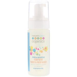 Нэйчерс Бэйби органикс, Mild & Sensitive, Foaming Hand & Face Wash, Fragrance Free, 4 oz (113.4 g) отзывы