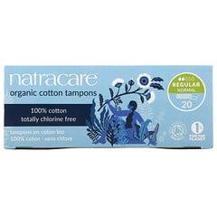 Natracare, 有機衛生棉條,普通流量,20 支