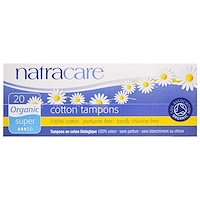 Natracare, 유기농 면 탐폰, 슈퍼, 20 개입