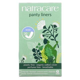 Natracare, Panty Liners, Organic Cotton Cover, Mini, 30 Liners