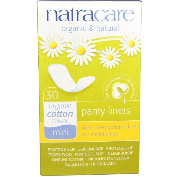 Panty Liners, Organic Cotton Cover, Mini, 30 Liners