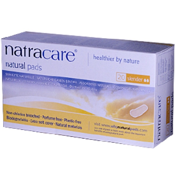 Natracare, Natural Pads, 20 Slender Pads (Discontinued Item)