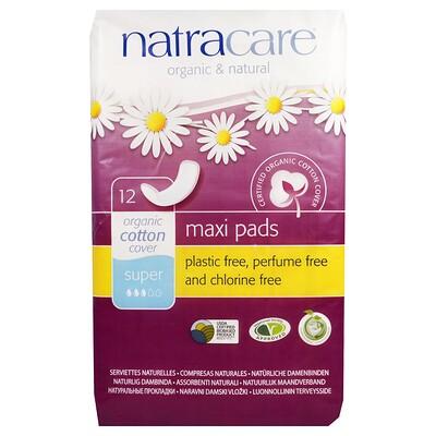 Макси-прокладки из органических и натуральных материалов, 12 супер-прокладок