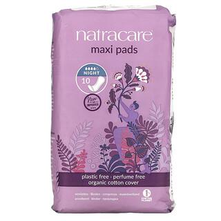 Natracare, Maxi 衛生巾,夜間,10 片