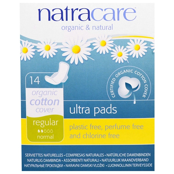 Ultra Pads, Organic Cotton Cover, Regular, Normal, 14 Pads