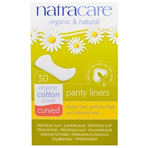 Натракэр, Organic & Natural Panty Liners, Curved, 30 Liners отзывы покупателей