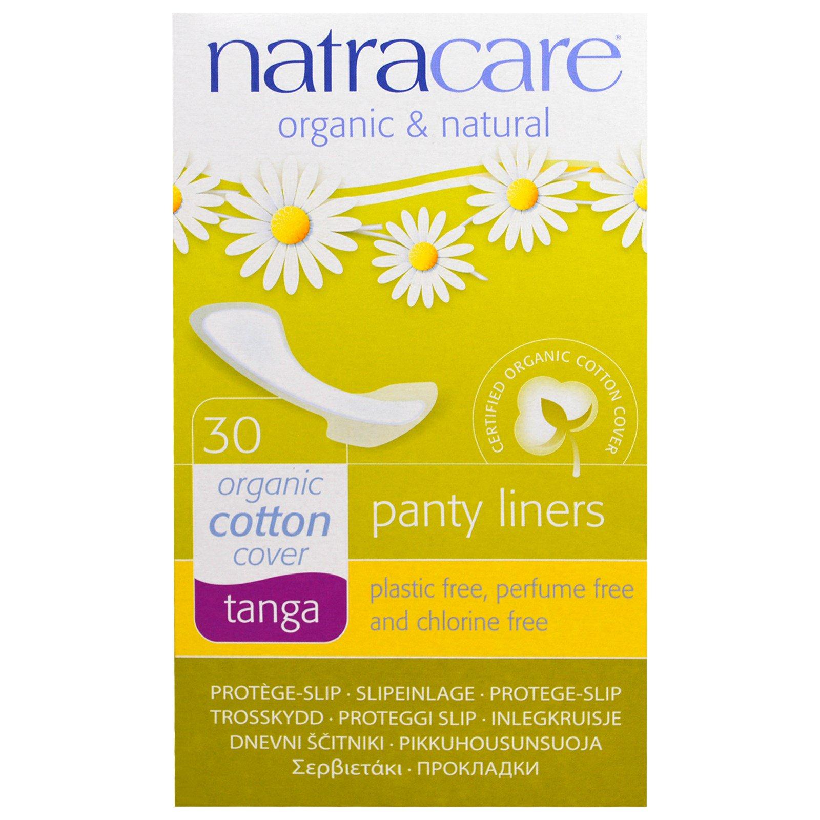 Natracare, Ежедневные прокладки, органический хлопок, танга, 30 прокладок