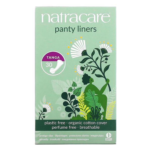 Panty Liners, Organic Cotton Cover, Tanga, 30 Liners