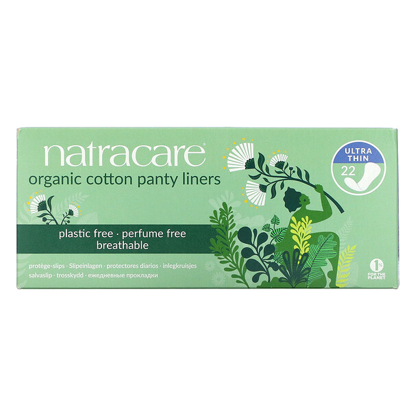 Organic Cotton Panty Liners, Ultra Thin, 22 Liners