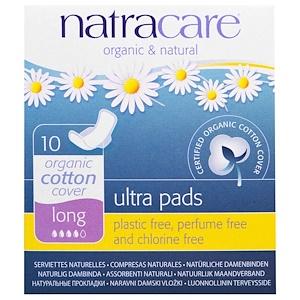 Натракэр, Ultra Pads, Organic Cotton Cover, Long, 10 Pads отзывы покупателей