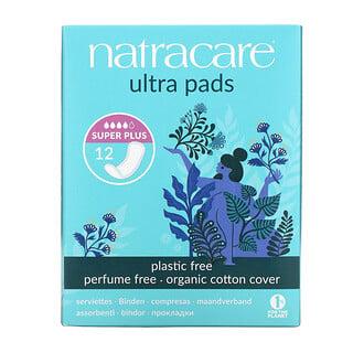 Natracare, 超級衛生護墊,超級加長型,12 片