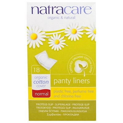 Купить Natracare Органические и натуральные ежедневные прокладки, обычной формы, 18 прокладок