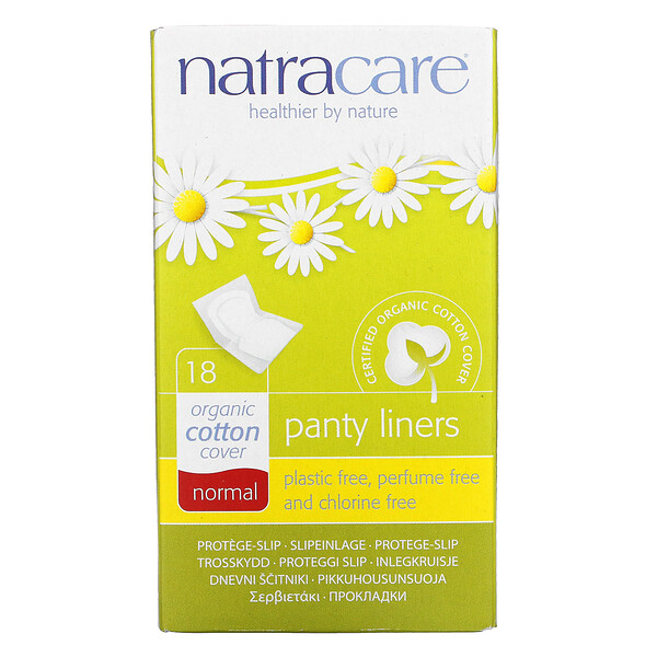 Natracare, Panty Liners, Organic Cotton Cover, Normal, 18 Liners